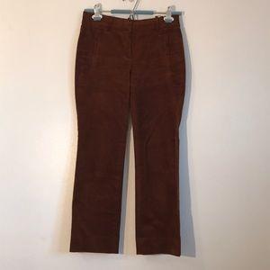 Cropped Corduroy Rust Pants